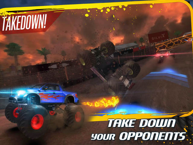 Insane Monster Truck Racing Screenshot and Hint 2. Take Down Your Opponents!