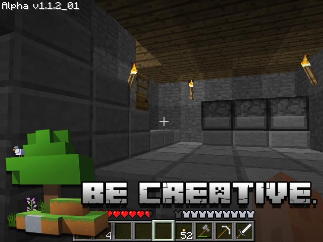 Minecraft Screenshot and Hint 1. Be creative!