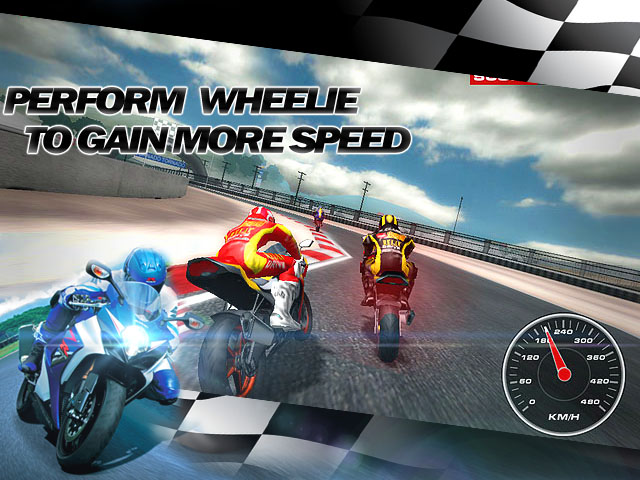 Super Bikes Race Screenshot and Hint 1. Perform wheelie to gain more speed!