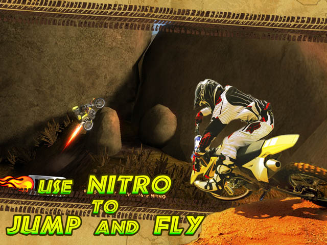Trial Motorbikes African Trial Screenshot and Hint 1. Use Nitro to Jump and Fly!