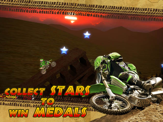 3d motorcycle racing game. Try to collect all