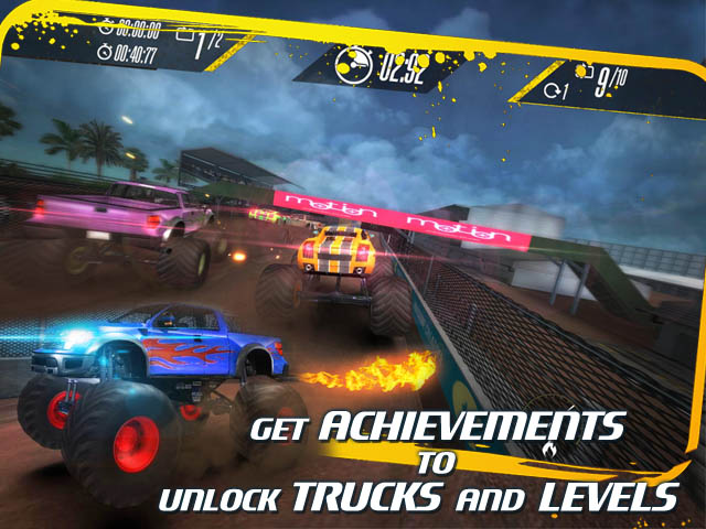 Free racing game. The player must control the