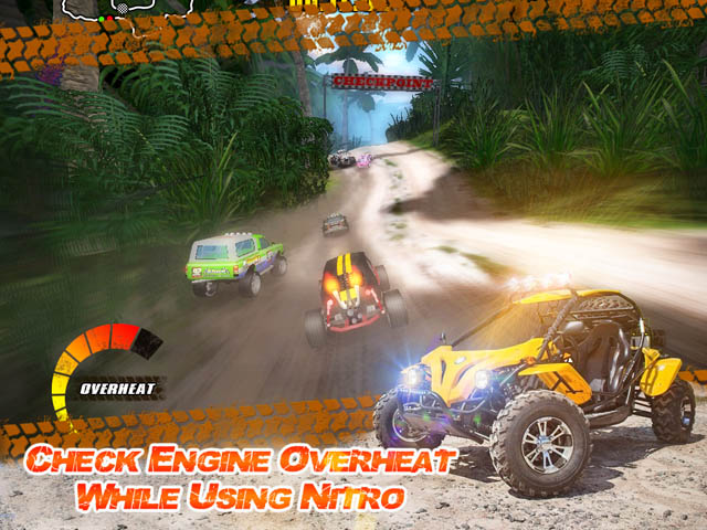 Off-road racing game. A key feature of the Jungle Racers Championship is the par