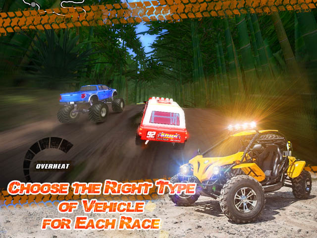 Jungle Racers Advanced Screenshot and Hint 3. Choose the Right Type of Vehicle for Each Race!