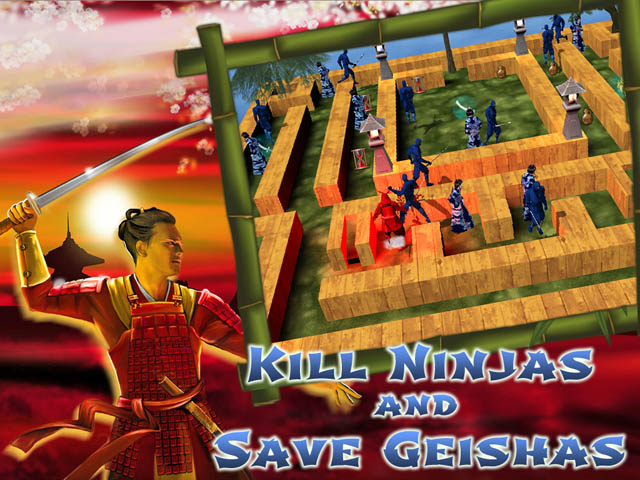 Last Samurai Screenshot 1. Kill Ninjas and Save Geishas!