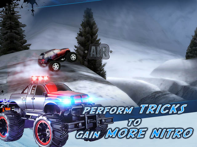 Monster truck racing game. Now the competitio