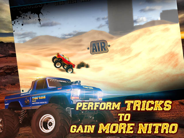 Monster Truck Trials Screenshot 2. Perform Tricks to Gain More Nitro!