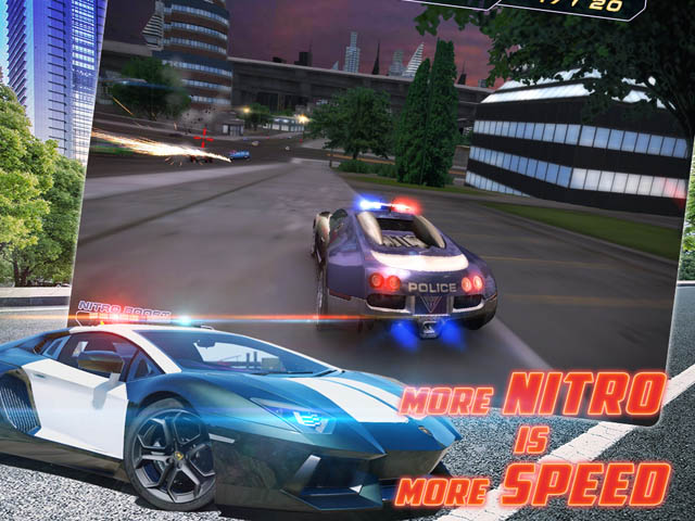 3d police racing game. The city of future is