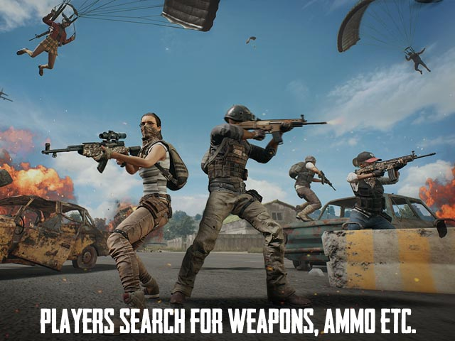 PUBG LITE Screenshot and Hint 2. Players search for weapons, ammo etc.!