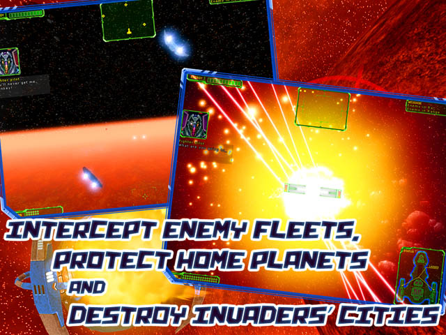 Action space game with strategic elements.