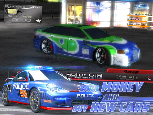 Street Racers Vs Police Screenshot 3. Earn Money and Buy New Cars!