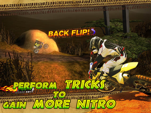Trial Motorbikes African Trial Screenshot 2. Perform Tricks to Gain More Nitro!