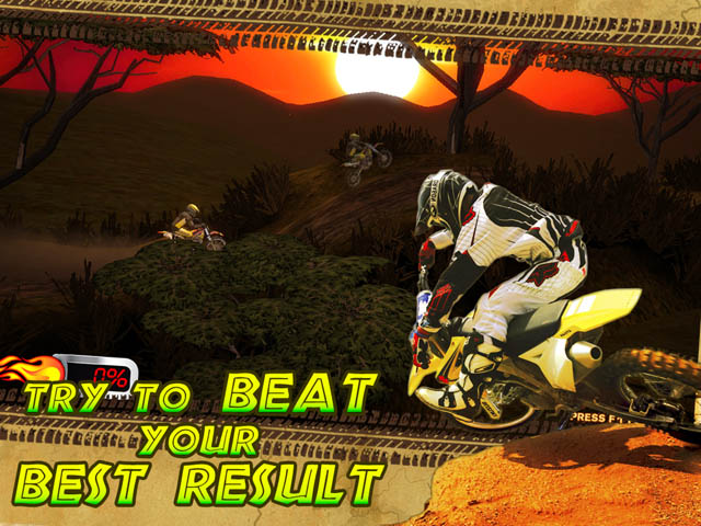 Trial Motorbikes African Trial Screenshot 3. Try to Beat Your Best Result!