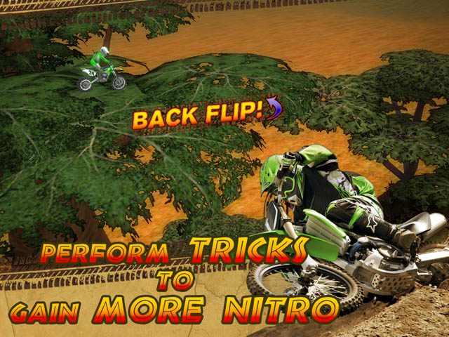 Trial Motorbikes Savanna Stars Screenshot 2. Make Tricks to Get More Nitro!